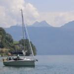 Segelboot Ausfahrt